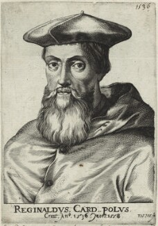 Reginald Pole, by Frans van den Wyngaerde (Wijngaerde), after  Unknown artist - NPG D32614