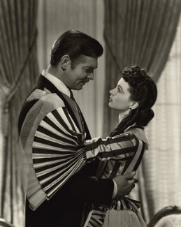 Clark Gable as Rhett Butler and Vivien Leigh as Scarlett O'Hara in 'Gone with the Wind', by Clarence Sinclair Bull - NPG x35326