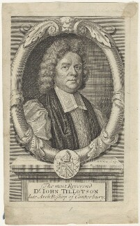 John Tillotson, by Robert White, after  Mary Beale - NPG D29581
