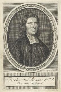 Richard Meggott (Meggot), by Robert White, after  Sir Godfrey Kneller, Bt - NPG D29586