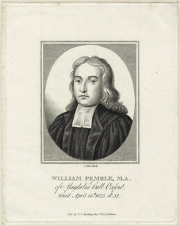 William Pemble, by James Stow, published by  George Perfect Harding - NPG D26015