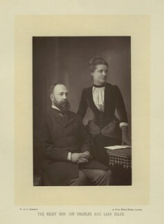 Sir Charles Wentworth Dilke, 2nd Bt; Emilia Francis (née Strong), Lady Dilke, by W. & D. Downey, published by  Cassell & Company, Ltd, published 1894 - NPG x8701 - © National Portrait Gallery, London