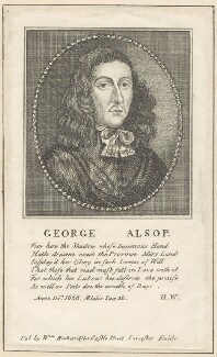 George Alsop, after Unknown artist, published by  William Richardson - NPG D29652