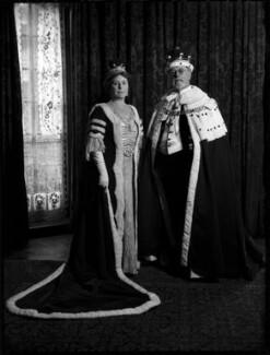 Mabel Agnes (née Laurie), Lady Plender of Sundridge; William Plender, 1st Baron Plender, by Bassano Ltd - NPG x152806