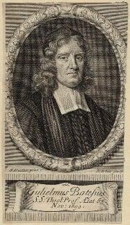 William Bates, by Robert White, after  Sir Godfrey Kneller, Bt - NPG D29665