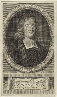 William Bates, by Robert White, after  Sir Godfrey Kneller, Bt - NPG D29667