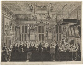 King Charles II (Banquet given in his honour by the States of Holland), by Pieter Philippe, after  Jacob Toorenvliet - NPG D32324