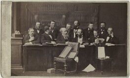 The Jury at the Tichborne Criminal Trial, by Herbert Watkins - NPG Ax30398