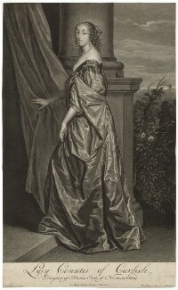 Lucy Hay (née Percy), Countess of Carlisle, by Pieter Stevens van Gunst, after  Sir Anthony van Dyck - NPG D32676