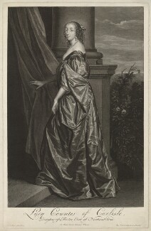 Lucy Hay (née Percy), Countess of Carlisle, by Pieter Stevens van Gunst, after  Sir Anthony van Dyck - NPG D32677