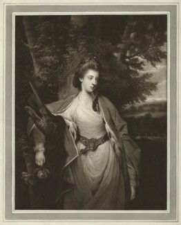 Margaret Caroline (née Leveson-Gower), Countess of Carlisle, by James Watson, after  Sir Joshua Reynolds - NPG D32678