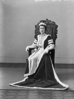 Edith Jane Allanson-Winn (née Dods), Lady Headley, by Bassano Ltd - NPG x152883