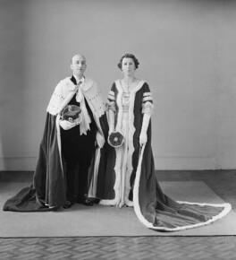 Rowland Patrick John George Allanson-Winn, 6th Baron Headley; Edith Jane Allanson-Winn (née Dods), Lady Headley, by Bassano Ltd - NPG x152889