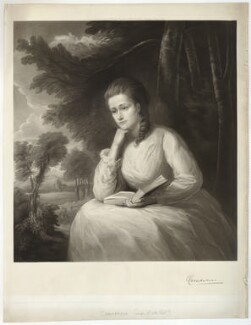Evelyn Herbert (née Stanhope), Countess of Carnarvon, by Richard Josey, after  Henry Graves - NPG D32691
