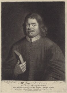 John Bunyan, by Jonathan Spilsbury, after  Thomas Sadler, published by  Robert Sayer - NPG D29796