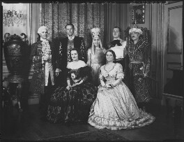 Group in fancy dress (Countess de Cramayel; Sir John Latta, 1st Bt), by Bassano Ltd - NPG x152907
