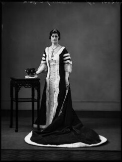 Emily Gladys Walpole (née Oakes), Countess of Orford, by Bassano Ltd, 14 May 1937 - NPG x152913 - © National Portrait Gallery, London