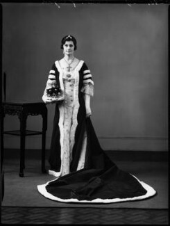 Emily Gladys Walpole (née Oakes), Countess of Orford, by Bassano Ltd, 14 May 1937 - NPG x152914 - © National Portrait Gallery, London