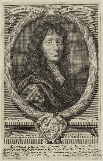 Sir William Temple, Bt, by Robert White, after  Sir Peter Lely - NPG D29817