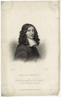 Andrew Marvell, by John William Cook, published by  E.F. Bingley, after  William Dobson - NPG D29828