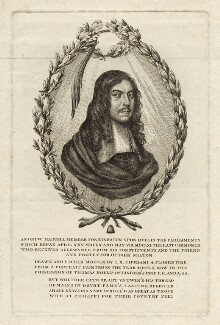 Andrew Marvell, by Giovanni Battista Cipriani, published 1780 - NPG D29833 - © National Portrait Gallery, London
