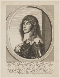 Prince Rupert, Count Palatine, by William Faithorne, published by  Sir Robert Peake, after  Sir Anthony van Dyck, early 1640s - NPG D32644 - © National Portrait Gallery, London