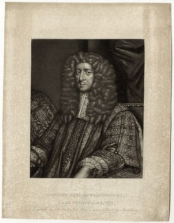 Anthony Ashley-Cooper, 1st Earl of Shaftesbury, by Robert Dunkarton, after  John Greenhill - NPG D29853