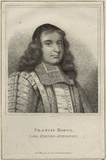 Francis North, 1st Baron Guilford, by E. Bocquet, published by  John Scott, after  David Loggan - NPG D29861