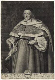 Sir Matthew Hale, by Robert White, after  John Michael Wright - NPG D29867