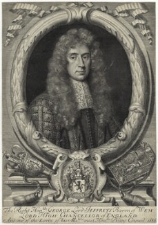 George Jeffreys, 1st Baron Jeffreys of Wem, by Robert White, after  Sir Godfrey Kneller, Bt - NPG D29878