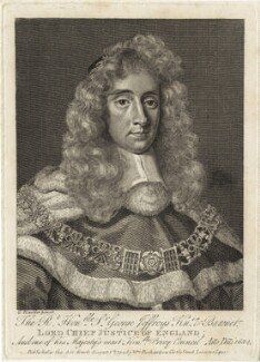George Jeffreys, 1st Baron Jeffreys of Wem, after Sir Godfrey Kneller, Bt, published by  William Richardson - NPG D29882