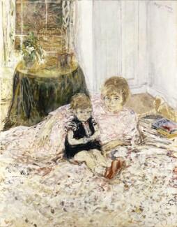 Lady Antonia Fraser with her daughter, Natasha, by Olwyn Bowey - NPG 6843