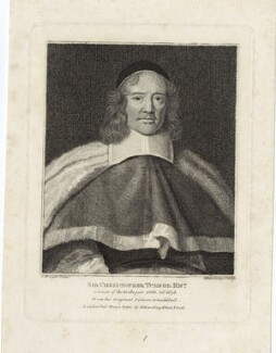 Sir Christopher Turnor, by Silvester Harding, after  John Michael Wright - NPG D29887