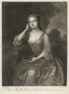 Frances Carteret (née Worsley), Lady Carteret, by John Simon, after  Charles D'Agar - NPG D32715