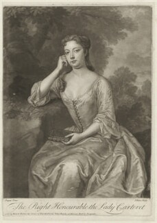 Frances Carteret (née Worsley), Lady Carteret, by John Faber Jr, after  Charles D'Agar - NPG D32716