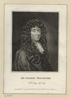Sir George Mackenzie of Rosehaugh, after Sir Godfrey Kneller, Bt, published by  William Richardson - NPG D29897