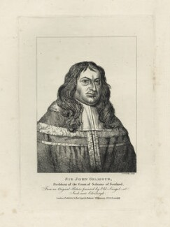 Sir John Gilmour of Craigmillar, by Charles Reuben Ryley (Riley), published by  Robert Wilkinson - NPG D29900