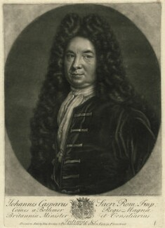 Johann Kaspar ('Hans') von Bothmer, by John Faber Sr, printed and sold by  Timothy Jordan, printed and sold by  Thomas Bakewell - NPG D32723