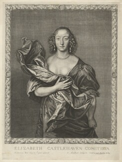 Elizabeth (née Brydges), Countess Castlehaven, by Pierre Lombart, after  Sir Anthony van Dyck - NPG D32724