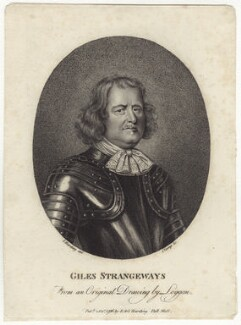 Giles Strangeways, by R. Clamp, after  David Loggan, published by  E. & S. Harding - NPG D29906