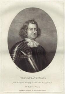 Giles Strangeways, by Charles Turner, after  David Loggan, published by  Samuel Woodburn - NPG D29907