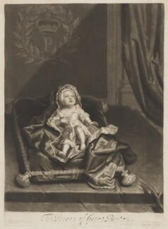 Prince James Francis Edward Stuart, by and published by John Smith, after  Sir Godfrey Kneller, Bt - NPG D32653