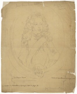 Prince James Francis Edward Stuart, by Sir George Scharf, after  Gérard Edelinck, after  François de Troy - NPG D32657
