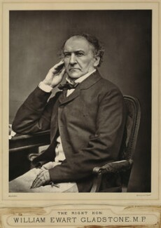 William Ewart Gladstone, by John Jabez Edwin Mayall - NPG x87317