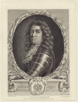 Sir Thomas Allin, 1st Bt, by Burnet Reading, published by  Thomas Rodd the Elder, after  Sir Godfrey Kneller, Bt - NPG D29939