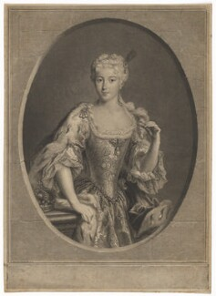 Maria Clementina Sobieska, by Pierre Drevet, after  Antonio David - NPG D32662