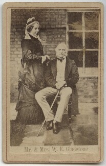 Catherine Gladstone (née Glynne); William Ewart Gladstone, after Archibald McLeod - NPG x5976