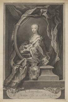 Maria Clementina Sobieska, by Jakob Frey the Elder - NPG D32663