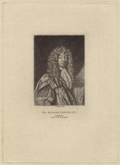 Sir John Chicheley (inscribed 'Sir Richard Chicheley'), by Robert Dunkarton, after  Sir Peter Lely - NPG D29944