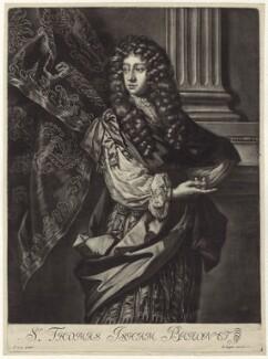 Sir Thomas Isham, Bt, after Sir Peter Lely, published by  David Loggan - NPG D29955